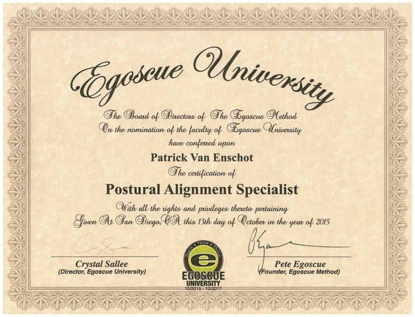 PAS certification Patrick van Enschot