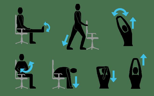 oefeningen op kantoor
