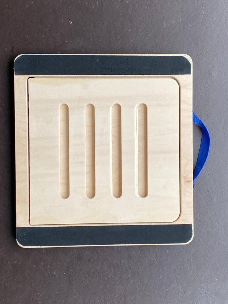 Rubber slant board onderkant