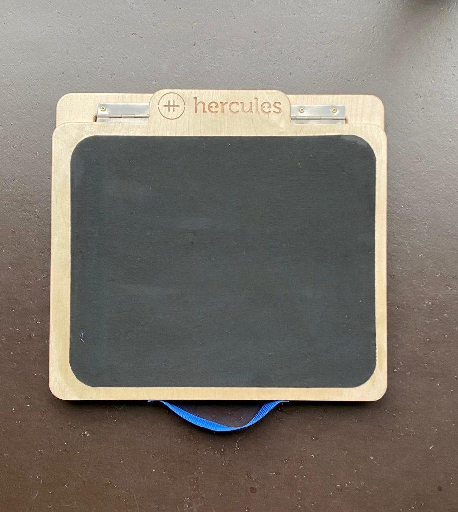 Rubber slant board top view